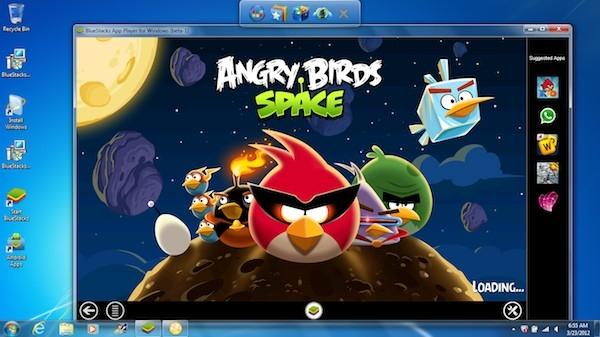 BlueStacks и Angry Birds